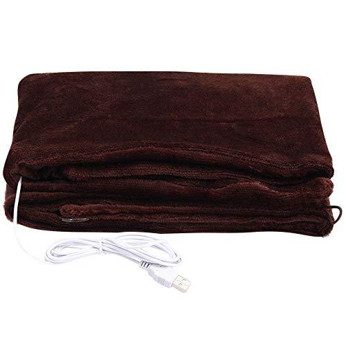 Fiber Snap Heart Carbon (JPOQW-winter USB Heated Shawl Carbon Fiber Heating Shawl Soft Electric Warming Blanket Pad (Coffee, One Size))