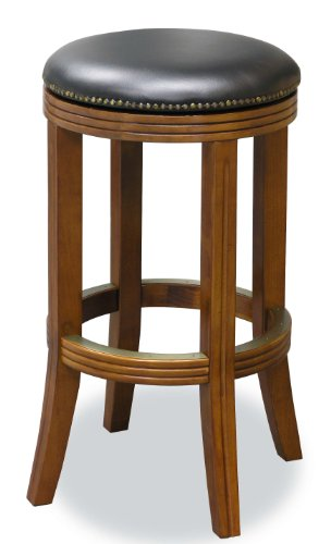 Fairview Game Rooms Executive Swivel Barstool - Backless (Honey)
