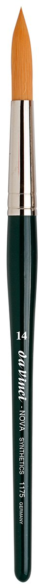 da Vinci Graphic Design Series 1175 Nova Lettering/Showcard Brush, Long Liner Synthetic with Black Handle, Size 14
