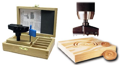 Amana Tool 59004 Rosette Cutter in Wooden Box (knives sold separately)