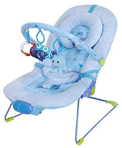 Blue Bouncing Baby Chair Vibrating Rocker Swing Infant Musical Lullaby Bouncer Ebay