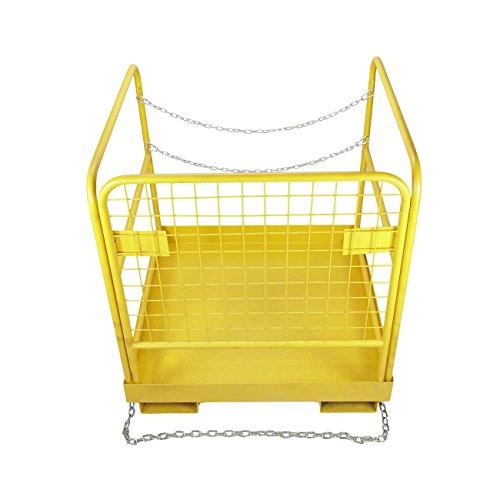BEAMNOVA Forklift Safety Cage Work Platform Collapsible Lift Basket Aerial Rails 36''x36'' by BEAMNOVA (Image #3)