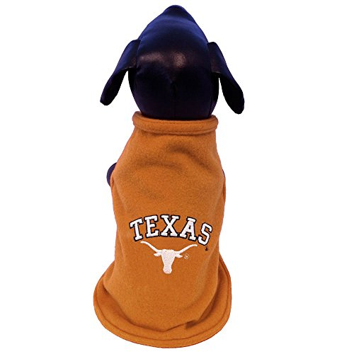 NCAA Texas Longhorns Polar Fleece Dog Sweatshirt, XX-Small