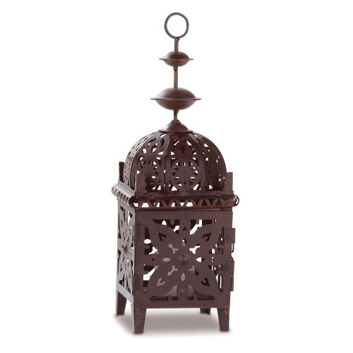 Gifts & Decor Exotic Metal Moroccan Style Votive Candle Lantern Light