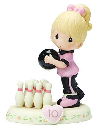 Precious Moments,  Growing In Grace, Age 10, Bisque Porcelain Figurine, Blonde Girl, 154037