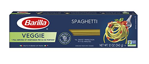 (Barilla Veggie Pasta, Spaghetti Pasta, 12 Ounces (Pack of 20))