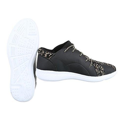 Ital-Design - Zapatillas altas Hombre Beige Schwarz