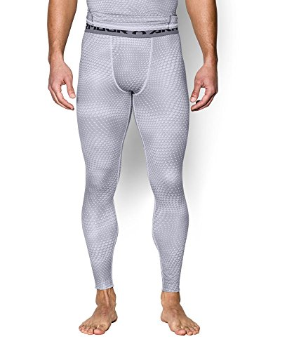 Under Armour Men's HeatGear Printed Legging, White/Graphite LG X 26 by Under Armour (Image #2)
