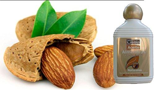 LISSIA-Aceite de almendras. Tratamiento capilar para humectar el cabello y cuero cabelludo. Ideal para el tratamiento de estrias corporales. 235ml/7.99oz (Lissia) * Almond Oil strech marks.