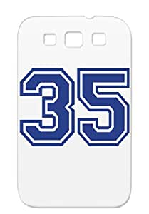 Miscellaneous Symbols Shapes Number 35 Navy 35 For Sumsang Galaxy S3 Case Cover