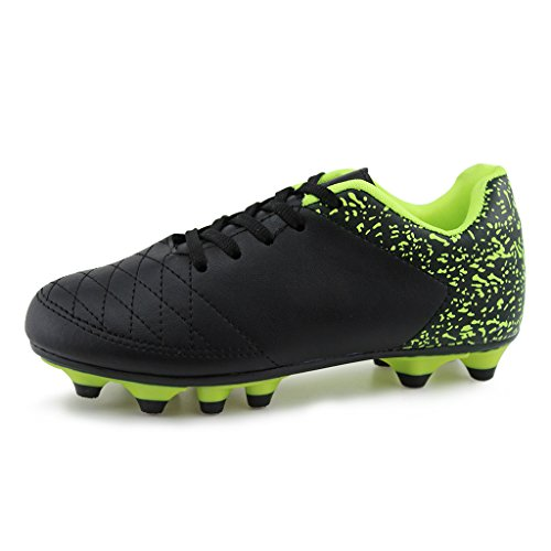 Hawkwell Comfortable Soccer Shoes(Toddler/Little Kid/Big Kid),Black PU,10 M US (Cleats Kids 10 Size Soccer)