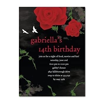 Amazon birthday party invitations dark romance by hello birthday party invitations dark romance by hello little one for tiny prints filmwisefo