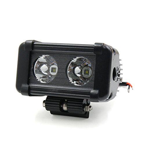 uxcell 20W White LED Spot Work Light Single Row Driving Lamp for Offroad SUV 4WD Truck - Examining Lamp