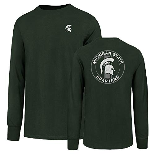 NCAA Michigan State Spartans Men's Ots Rival Long sleeve Lccb Distressed Tee, Large, Dark Green
