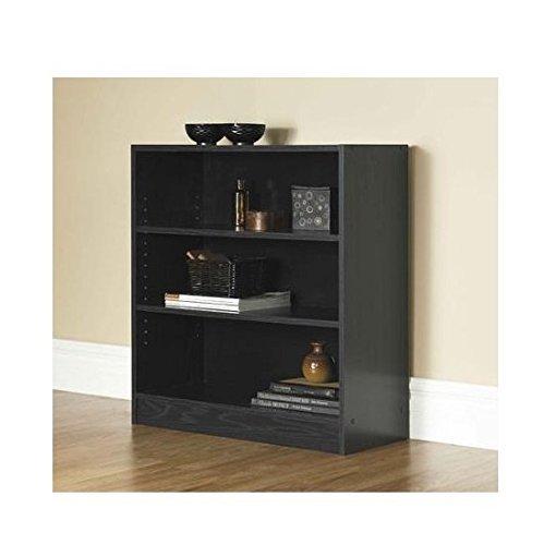 Mainstays 3-Shelf Bookcase | Wide Bookshelf Storage Wood Furniture (Black)...