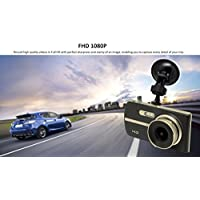 Dual Dash Cam 4 Screen Wide Angle Lens Full 1080P Front and Back Car Dashboard Camera Parking Guard High Spec Processor DVR Enhanced Night Vision Driver Assist Motion Detection 12 Month Warranty