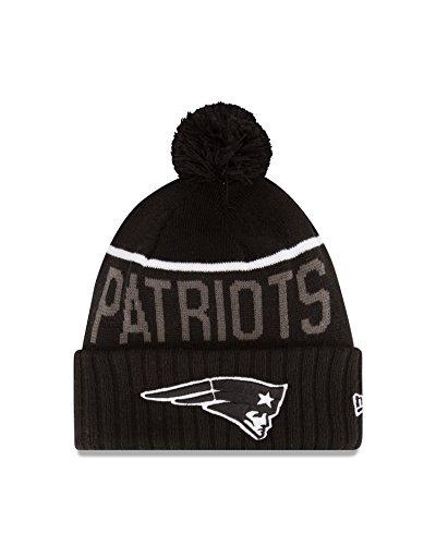 NFL New England Patriots 2015 Sport Knit, Black, - New Era 2014 Patriots Knit Hat