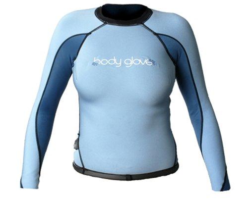 Body Glove Aura Womens Reversible Surf Shirt (Black/Blue, 5/6) Body Glove Neoprene Wetsuit