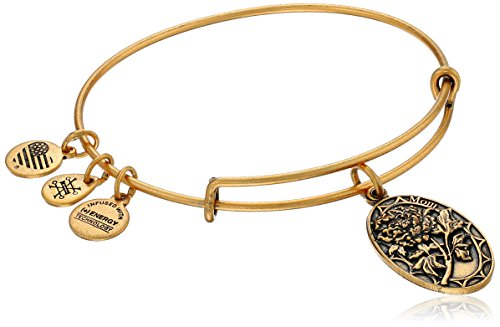 Alex and Ani Because I love you, Mom II Expandable Rafaelian Gold-Tone Bracelet