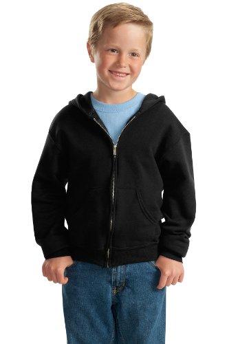 Jerzees Youth NuBlend® Hooded Full-Zip Sweatshirt - Black