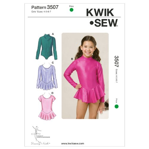 Kwik Sew K3507 Leotards Sewing Pattern, Size 4-5-6-7 by KWIK-SEW PATTERNS