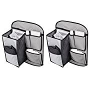 Summer Infant Travels Back Seat Organizer with Change Pad, Tidy - 2 Count