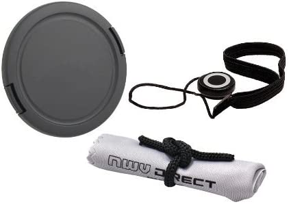 Nw Direct Microfiber Cleaning Cloth For Fujifilm FinePix S8650 + Lens Cap Holder 58mm Includes Necessary Adapter Ring Lens Cap Side Pinch