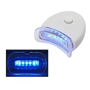 FLYM Blanqueamiento De Dientes 5 Luces De Aceleración LED, Sistema De Blanqueador De Dientes con Luz Azul para Gel De Blanqueamiento De Dientes (2 Paquetes)