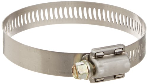 Breeze Power-Seal Stainless Steel Hose Clamp, Worm-Drive, SAE Size 36, 1-13/16