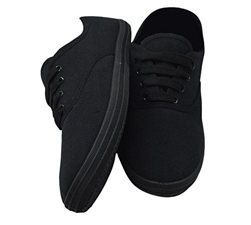 Girls Lace Sneakers 3 Pumps Plimsolls LLB Shoes up 8 Canvas Flat UK Fashion Trainers Plimsoles Size wUSW4qX