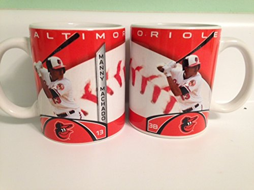 MLB Baltimore Orioles Machado M. #13 Player Mug, Orange