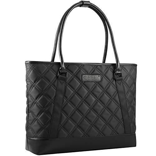 - Gonex Women Laptop Tote Bag, 15.6 Inch Lightweight Tablet Handbag Shoulder Bag Briefcase for Business Work Travel Black