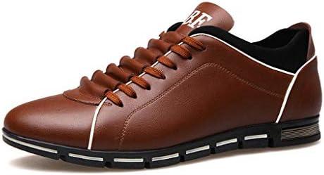 [해외]Men Leather Shoes Casual Loafers Lace-up Round Toe Business Dress Shoes (US:8 Brown) / Men Leather Shoes Casual Loafers Lace-up Round Toe Business Dress Shoes (US:8 Brown)