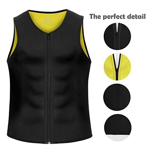 58bc60708f Cimkiz Hot Sweat Vest Neoprene Sauna Vest for Weight Loss Tummy Fat Burner  Slimming Shapewear Hot