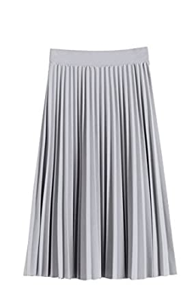 1920s Skirts, Gatsby Skirts, Vintage Pleated Skirts Women Pleated Fall and Winter A line Midi Skirt $16.99 AT vintagedancer.com