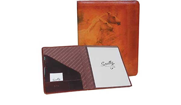 Scully Accessories Mahogany Old Atlas/Pony Leather Writing Pad Folder
