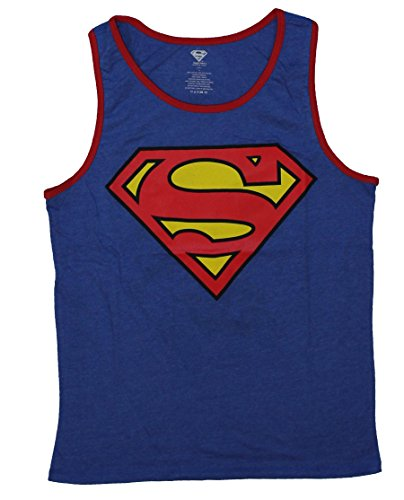 Superman+tank+tops Products : Superman (DC Comics) Mens Reversible Tank Top - Classic Logo / Action Pose