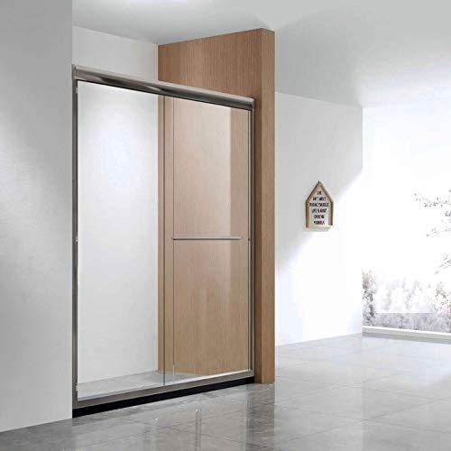 (ELEGANT 2 Sliding Frameless Shower Door, 72