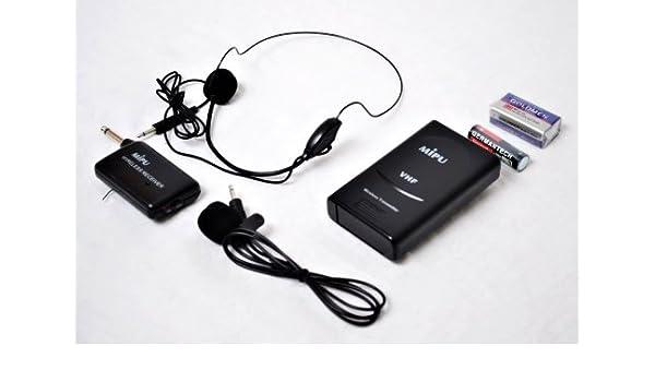 GSC Marca nuevo clip de solapa encendido y sistema de micrófono inalámbrico de auriculares: Amazon.es: Electrónica