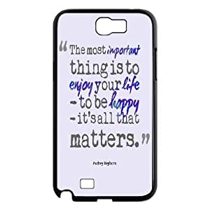 Audrey Hepburn Quote Custom Cover Case with Hard Shell Protection for Samsung Galaxy Note 2 N7100 Case lxa#904339