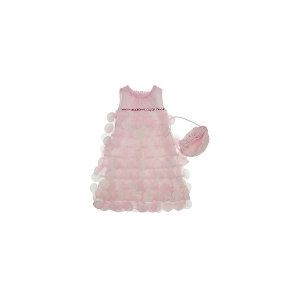 Donita Sleeveless Tiered Dress Pink 6 Clothing