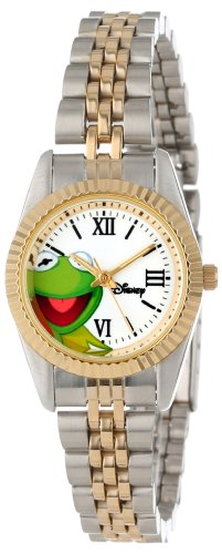 Two Tone Frog - Disney Women's W000579 Kermit The Frog Two-Tone Status Watch