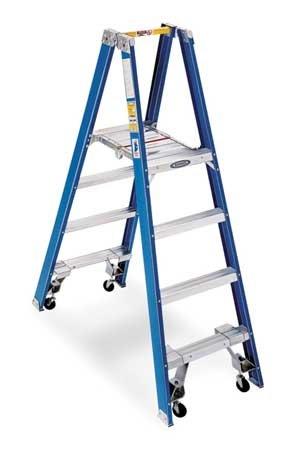 Step Platform Twin Ladder (Twin Platform Stepladder, 4 ft, FGL, 250 lb)