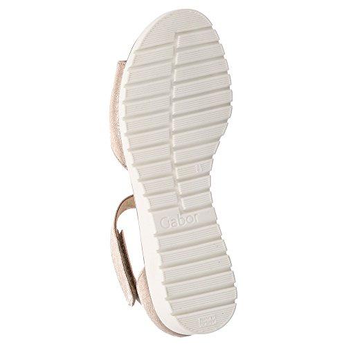 Gabor Damen Sandalette - Sandalias de Vestir de Piel Para Mujer Beige