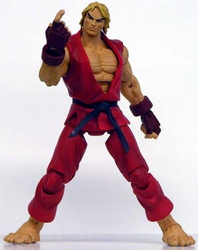 Amazon Com Street Fighter Ken Action Figure Red Costume Toys