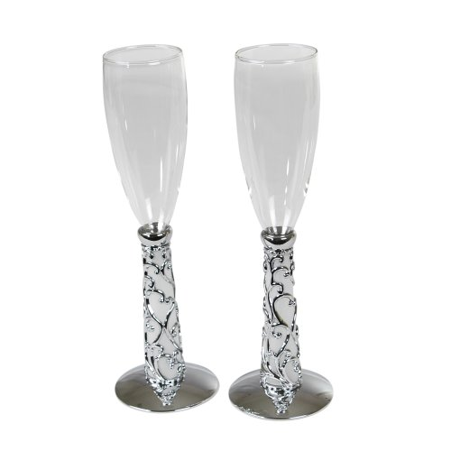 - Ivy Lane Design Wedding Accessories Elegant Vine Toasting Flutes, Set of 2