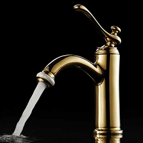Deliao Bathroom Below Counter Basin Lavatory Faucet Lead Free Brass Single Handle Hole Sink Mixer Tap Rose Gold (Pedestal Sink Gold compare prices)
