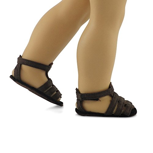 (18 Inch Doll Clothes/clothing Brown Sandals Fits American Girl Dolls)