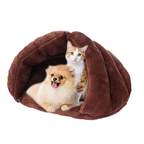 BBDOGO Fleece Soft Pet Sleeping Bag Self Warming House Beds for Dog and Puppy Cats CW090