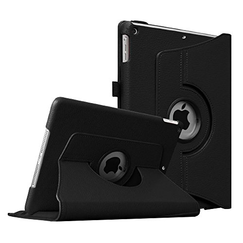Fintie New iPad 9.7 inch 2017 / iPad Air Case - 360 Degree Rotating Stand Cover with Auto Sleep Wake for Apple New iPad 9.7 inch 2017 Tablet / iPad Air 2013 Model (Not fit iPad Air 2), Black (Apple Ipad Air Mount 360)